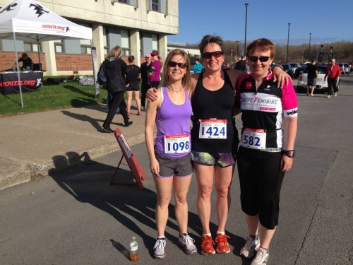 Christine Maheu, Sandra Castonguay et moi - 11 mai 2014